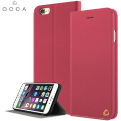 OCCA Jacket iPhone 6S / 6 Genuine Leather Wallet Case - Red