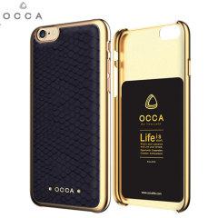 Occa Wild Premium Leather iPhone 6S Plus / 6 Plus Shell Case - Black