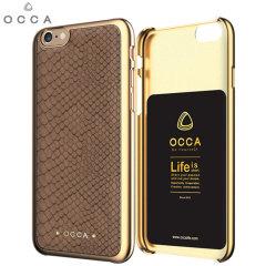 Occa Wild Premium Leather iPhone 6S Plus / 6 Plus Shell Case - Khaki