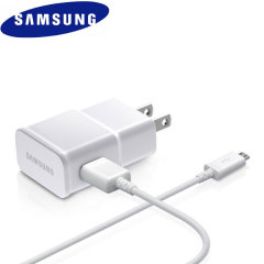 Official 2A Samsung US Wall Charger with Micro USB Cable - White