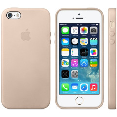 Official Apple iPhone 5S / 5 Leather Case - Beige
