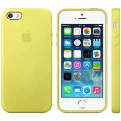 Official Apple iPhone 5S / 5 Leather Case - Yellow