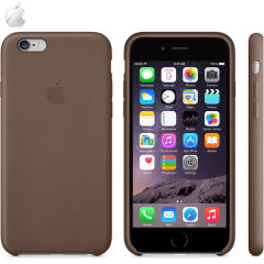 Official Apple iPhone 6 Leather Case - Olive Brown