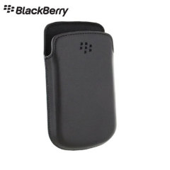 Official BlackBerry 9720 Leather Pocket - Black
