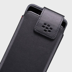 Official Blackberry DTEK50 Leather Swivel Holster Case - Black