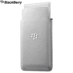 Official Blackberry Leap Leather Pocket Case Cover - White