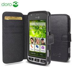 Official Doro Leather Style Liberto 820 Mini Wallet Case - Black