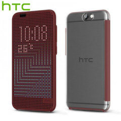Official HTC One A9 Dot View Ice Premium Case - Dark Red