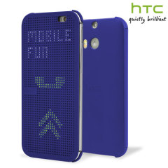 Official HTC One E8 Dot View Case - Imperial Blue