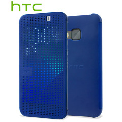 Official HTC One M9 Dot View Case - Blue