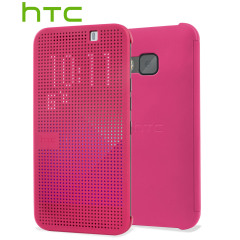 Official HTC One M9 Dot View Case - Pink