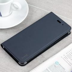 Official HTC U11 Genuine Leather Flip Case - Dark Grey