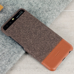 Official Huawei Mashup P10 Plus Fabric / Leather Case - Brown