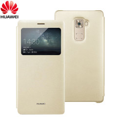 Official Huawei Mate S View Flip Case - Champagne