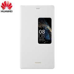 Official Huawei P8 Smart View Flip Case - White