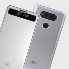 Official LG V20 QuickCover Folio Case - Silver