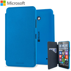 Official Microsoft Lumia 640 Wallet Cover Case - Blue