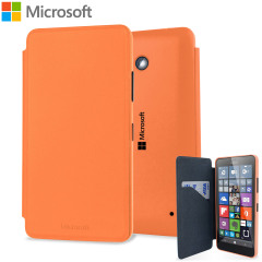 Official Microsoft Lumia 640 Wallet Cover Case - Orange
