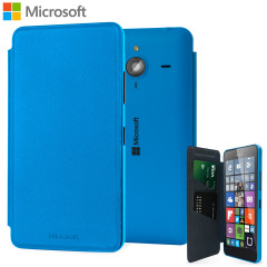 Official Microsoft Lumia 640 XL Wallet Cover Case - Blue
