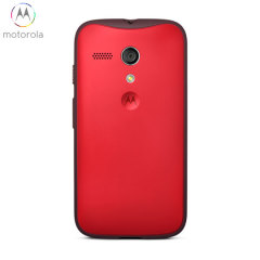 Official Motorola Grip Shell Case for Moto G - Cherry