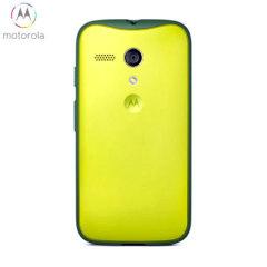 Official Motorola Grip Shell Case for Moto G - Lemon Lime