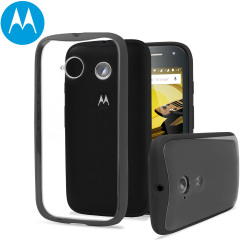 Official Motorola Moto E 2nd Gen Grip Shell Case - Charcoal