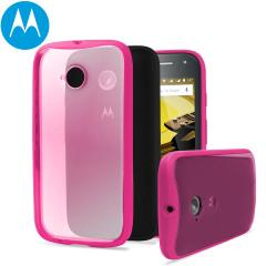 Official Motorola Moto E 2nd Gen Grip Shell Case - Raspberry