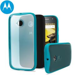 Official Motorola Moto E 2nd Gen Grip Shell Case - Turquoise
