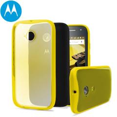 Official Motorola Moto E 2nd Gen Grip Shell Case - Yellow