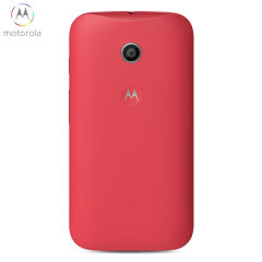Official Motorola Moto E Shell Replacement Back Cover - Cherry