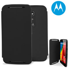 Official Motorola Moto G 2nd Gen Flip Shell Cover - Black