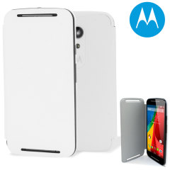 Official Motorola Moto G 2nd Gen Flip Shell Cover - Chalk