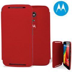 Official Motorola Moto G 2nd Gen Flip Shell Cover - Cherry