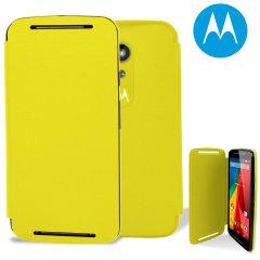 Official Motorola Moto G 2nd Gen Flip Shell Cover - Lemon Lime