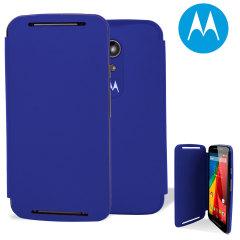 Official Motorola Moto G 2nd Gen Flip Shell Cover - Royal Blue