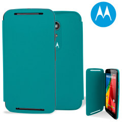 Official Motorola Moto G 2nd Gen Flip Shell Cover - Turquoise
