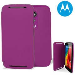 Official Motorola Moto G 2nd Gen Flip Shell Cover - Violet