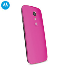Official Motorola Moto G 2nd Gen Shell Replacement Back Cover - Pink