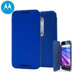 Official Motorola Moto G 3rd Gen Flip Shell Cover - Blue