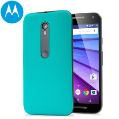 Official Motorola Moto G 3rd Gen Shell Back Cover - Turquoise