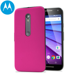 Official Motorola Moto G 3rd Gen Shell Replacement Back Cover - Pink