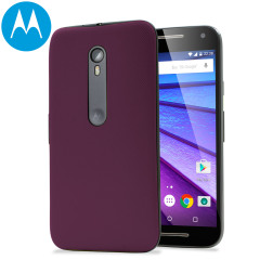 Official Motorola Moto G 3rd Gen Shell Replacement Back Cover - Wine