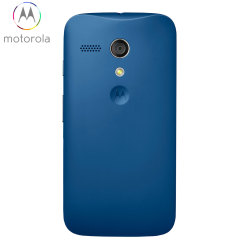 Official Motorola Moto G Battery Door - Royal Blue