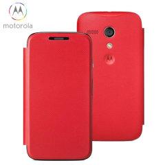 Official Motorola Moto G Flip Cover - Vivid Red