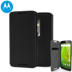 Official Motorola Moto X Play Flip Shell Cover - Black