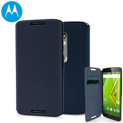 Official Motorola Moto X Play Flip Shell Cover - Navy Blue