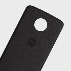 Official Motorola Moto Z Shell Leather-Style Back Cover - Black