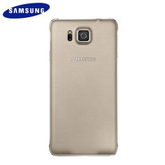 Official Samsung Galaxy Alpha Back Cover - Gold