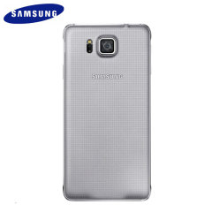 Official Samsung Galaxy Alpha Back Cover - Silver