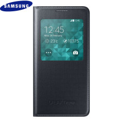 Official Samsung Galaxy Alpha S-View Premium Cover Case - Black